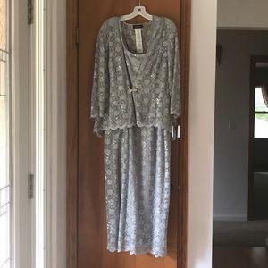 David's Bridal - Silver R&M Richards Sz 18 - Dress